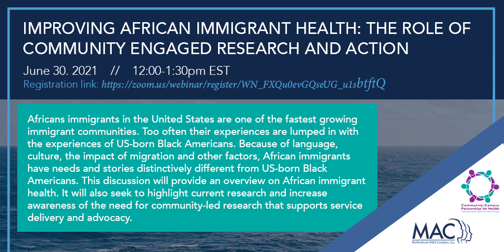 Improving African Immigrant Health Through Research and Action