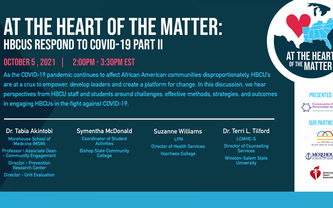 At the Heart of the Matter: HBCUs Respond to COVID-19 Part II